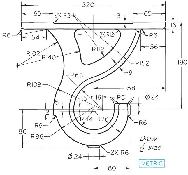 I need help drawing a industrial lifting hook in CAD 2013