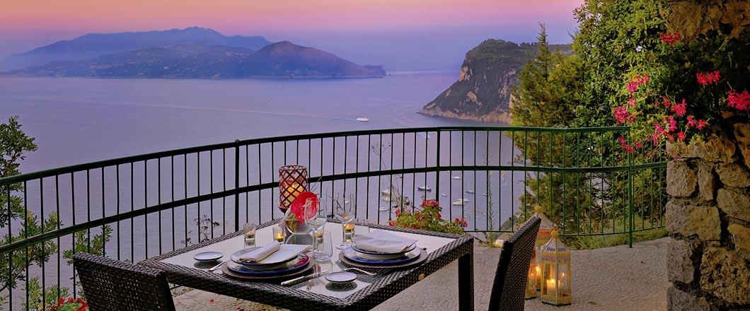 Restaurant La Terrazza di Lucullo  Caesar Augustus Capri Italy