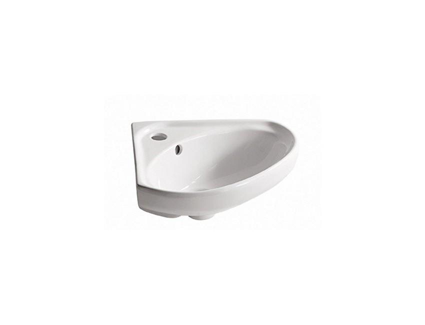 lavabo d angle cm 47x40 en ceramique galassia lisbona couleur blanc