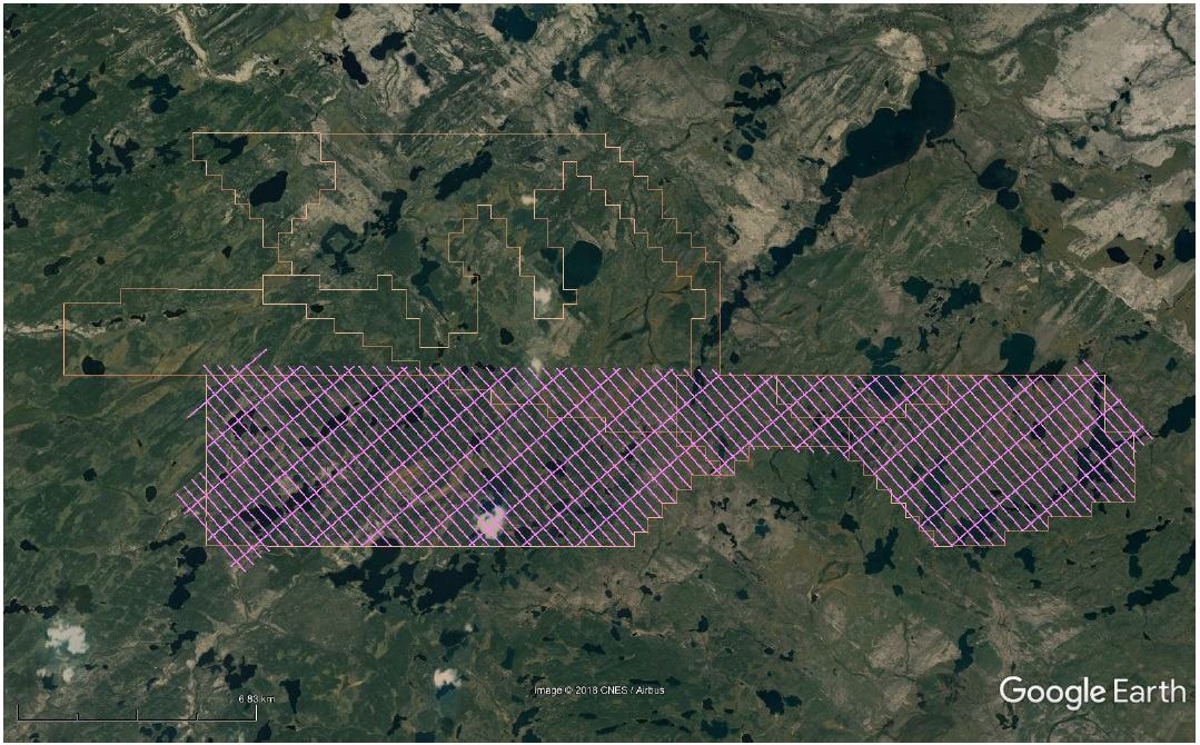VTEM Survey Grid – Completed January 2019
