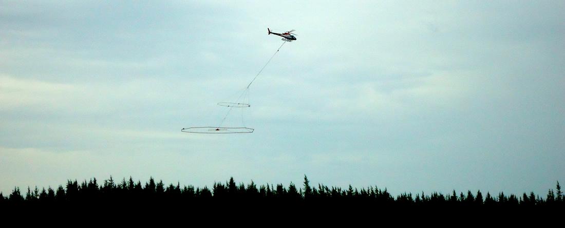 VTEM Being Flown Over The Preston Lake Property