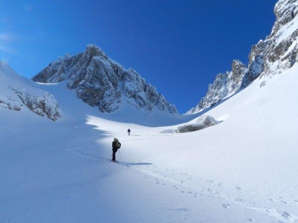 Brêche de Badescure en ski