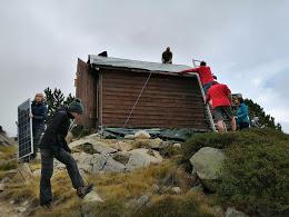 réparation de la toiture du Campanot