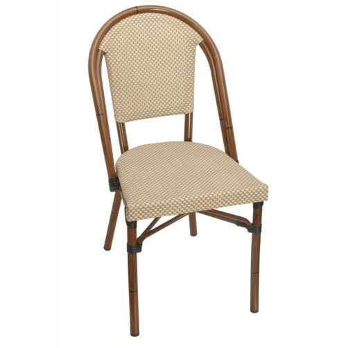 bistro chairs outdoor egg chair textiline cafe tables inc tan and cream