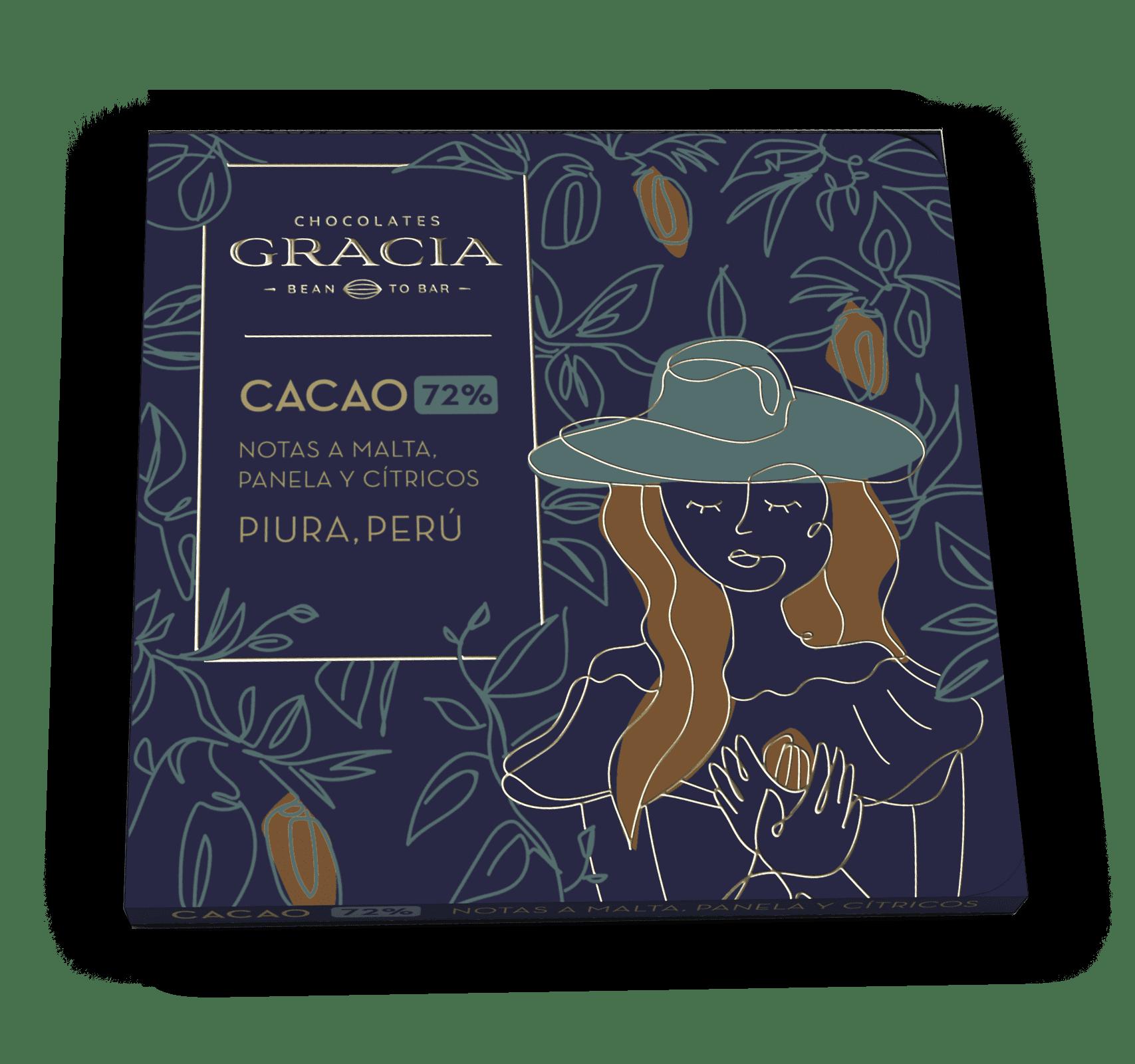 Barra 72% Cacao - Chocolates Gracia