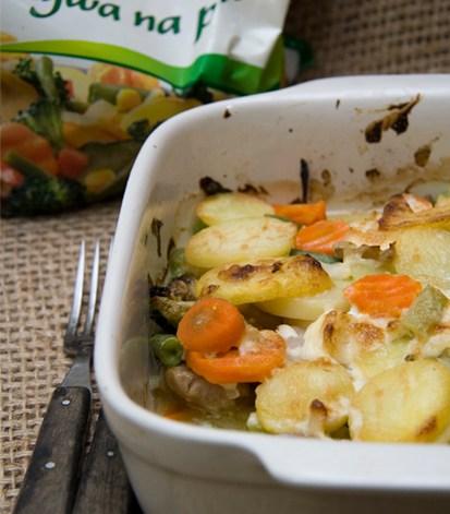 Zapiekanka rybna z polskimi warzywami