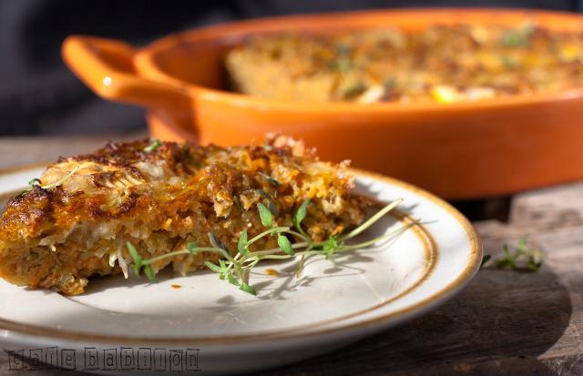 Zapiekanka z marchewką i ziemniakami