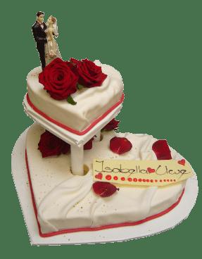 Hochzeitstorte Herzform  Hochzeit