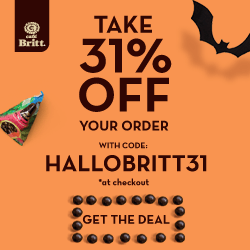 Take 31% OFF your order with code: HALLOBRITT31