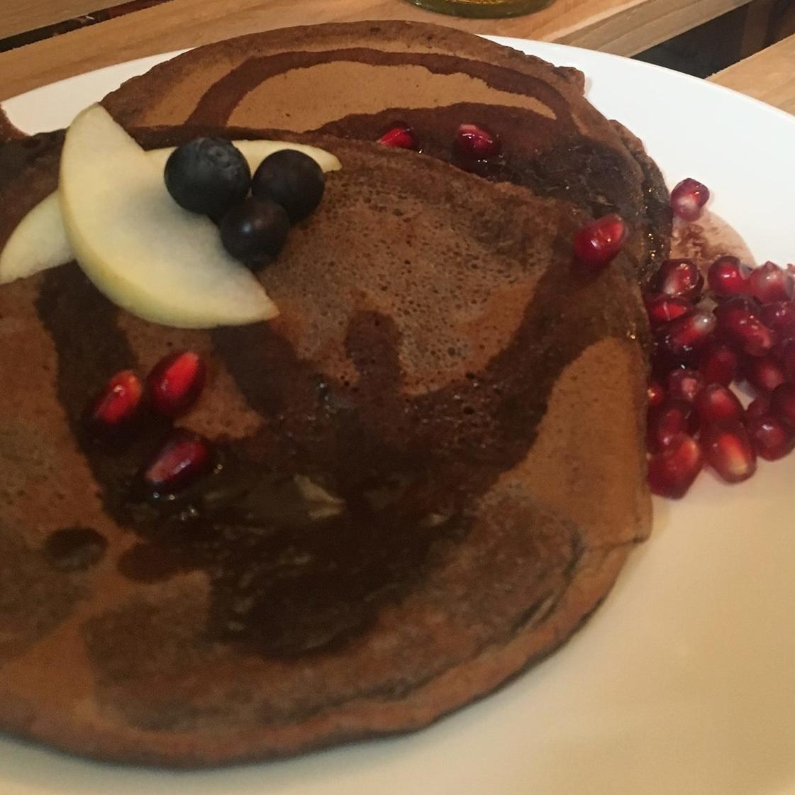 Schokoladen Pancakes ohne Zucker