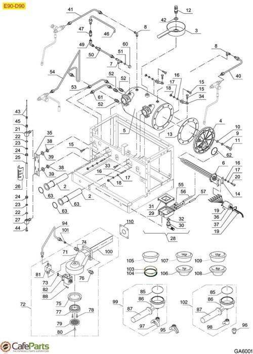 small resolution of espresso machine parts gaggia e90 d90 group boiler