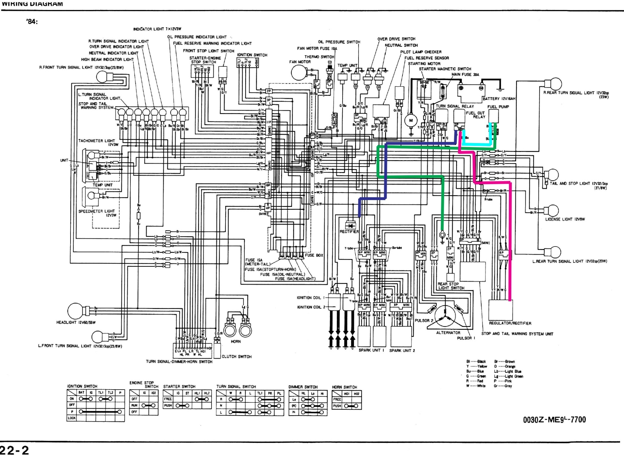 hight resolution of vt700 wiring diagram wiring diagram show 1984 honda vt700c shadow diagram wiring diagram img 1986 honda