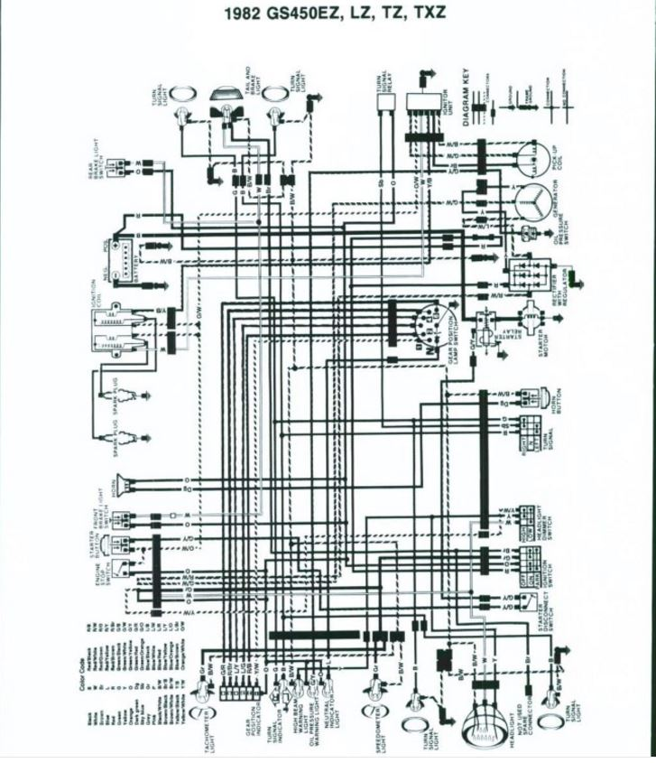 1982 suzuki gs 450 wiring diagram