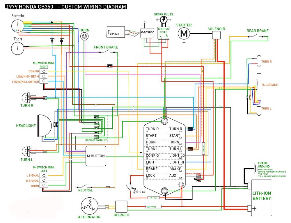 medium resolution of 1974 honda wire diagram wiring diagram post1974 cb360 wiring diagram diagram data schema 1974 honda cb550