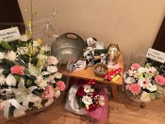 オッドにお花をたくさんいただきました!