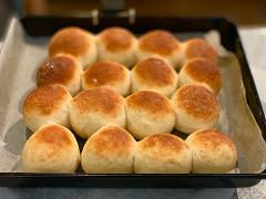 自家製パンも焼けました