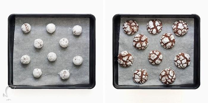 galletas de almendra especiadas: horneado