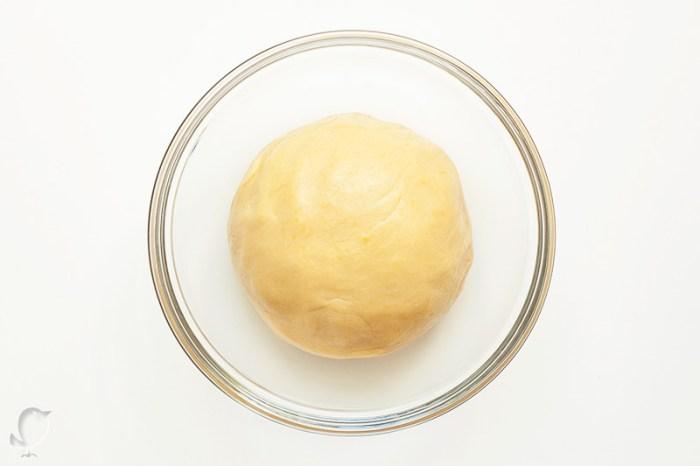 galletas de naranja: masa