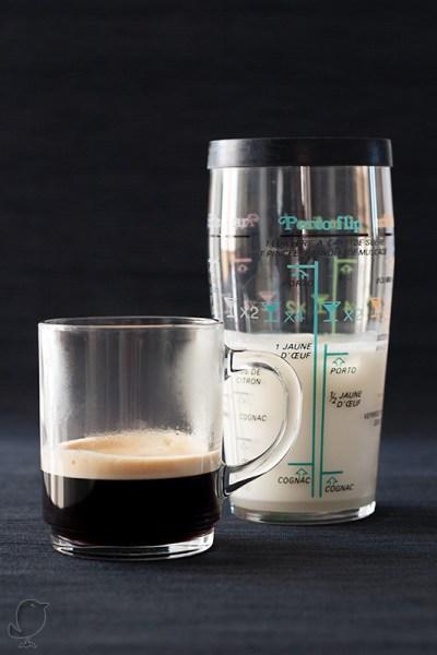 Café y leche helada