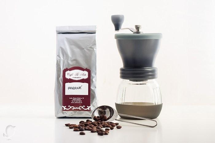 Café Paraná y molinillo