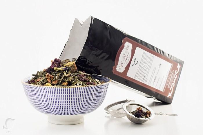 te purpura o purple tea, te verde