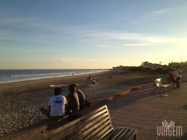A praia linda de Carrasco, em frente ao Sofitel Casino