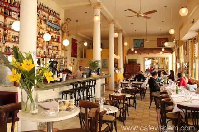 Ambiente charmoso do Brasserie Pentaque