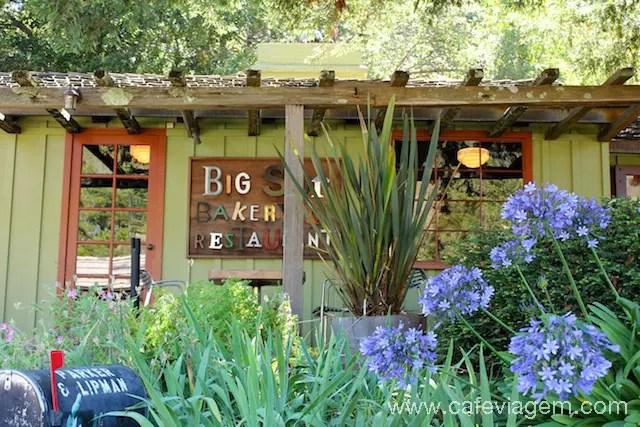 Restaurante charmoso e gostoso na estrada de Big Sur