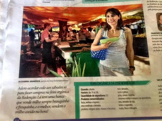 matéria publicada no caderno especial Zero Hora de 2012 sobre 240 Prazeres de POA