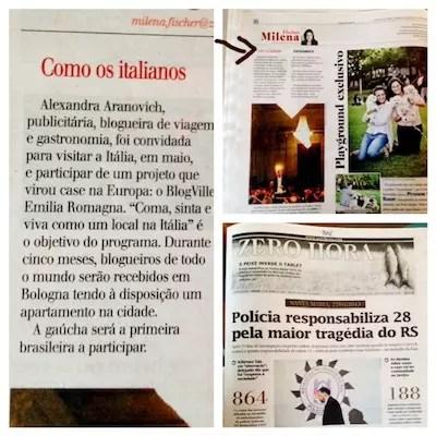 Nossa participação no BlogVille saiu no jornal Zero Hora do RS !!!