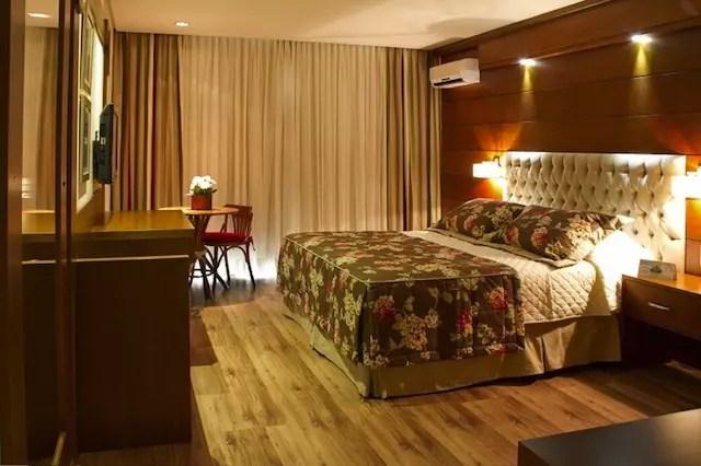 Quarto do Hotel Alpestre do vencedor!
