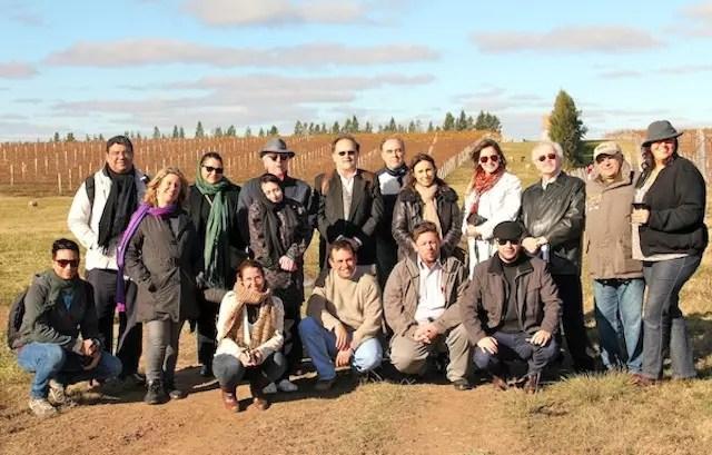 o grupo que viajou a convite para a inauguração da estância turística