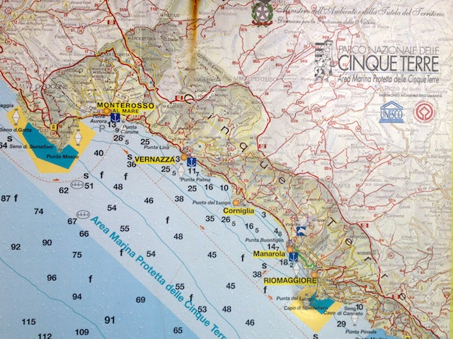Monterosso al mare map