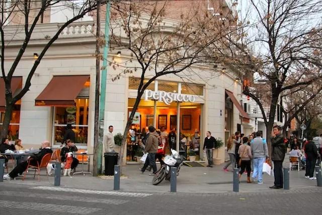 O charme da Persicco de Palermo Viejo. Vá de doce de leite e curta o astral do bairro!