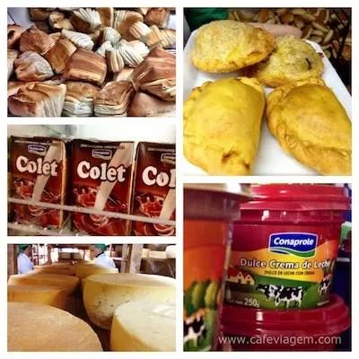 "os sabores do Uruguai: doce de leite, empanadas, queijos, Colet (o todyinho deles) e as ""galletas""(bolachas típicas)"