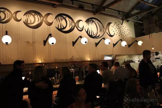 o bem frequentado restaurante Anchor & Hope