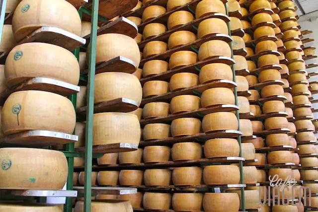 visita a produção do famoso parmigiano reggiano de Parma