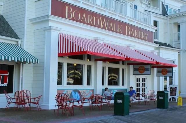 A pequena e deliciosa bakery ao redor dos hotéis do Boardwalk na Disney