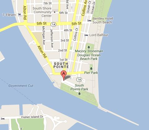 Mapa South Pointe