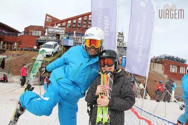 Filhota e o nosso professor de esqui!