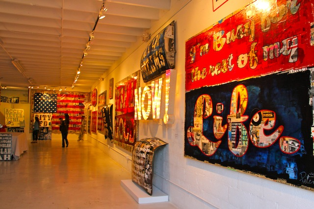 Uma das inúmeras galerias da região