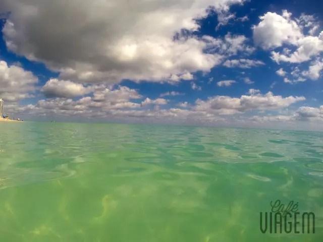 A cor da água era algo de outro mundo!