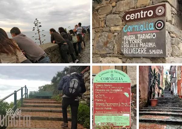 A charmosa e ao alto Corniglia