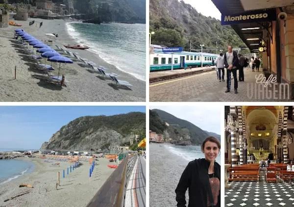 Monterosso, o melhor das cinco terras para pegar uma praia! E a que recomendamos para se hospedar e jantar.