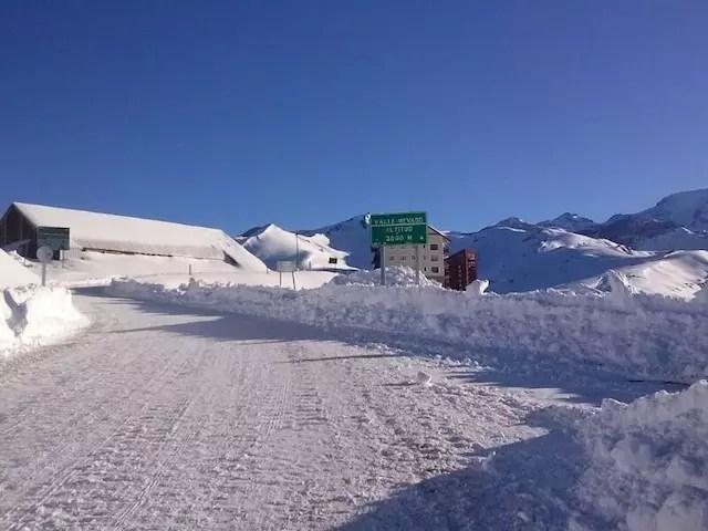Neve agora no Valle! Foto divulgação Valle Nevado