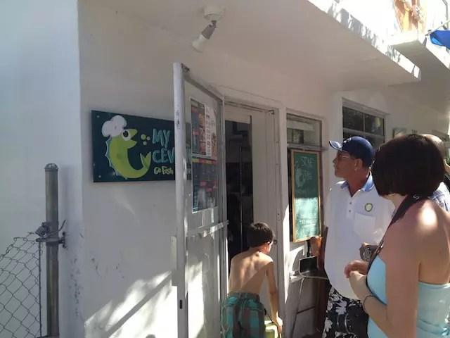 Um dos achados gourmtes de South Beach com fila na hora do almoço: a janelinha do pequeno My Ceviche