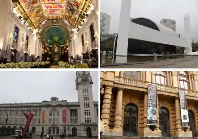 O Memorial da América Latina, a Sala SP, o Municipal e a bela Igreja Nossa Senhora do Brasil