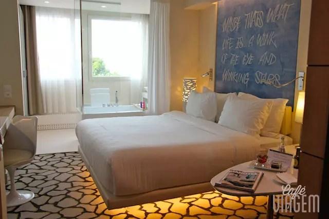 Hotel 4 estrelas (N'vY Hotel) sai por volta de 260 CHF/ 250 dólares a diária