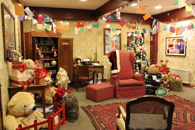 O escritório do Papai Noel do Casa da Montanha - uma das atrações mágicas do hotel para as crianças na programação de Natal