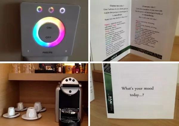 """Os """"brinquedinhoa"""" do quarto: efeitos de luzes com menu e a máquina Nespresso"""
